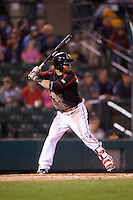 Rochester Red Wings right fielder Darin Mastroianni (24) at bat during a game against the Syracuse Chiefs on July 1, 2016 at Frontier Field in Rochester, New York.  Rochester defeated Syracuse 5-3.  (Mike Janes/Four Seam Images)