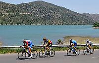 11th July 2021, Ceret, Pyrénées-Orientales, France; Tour de France cycling tour, stage 15, Ceret to  Andorre-La-Vieille;  ARMIRAIL Bruno (FRA) of GROUPAMA - FDJ, VAN AERT Wout (BEL) of JUMBO - VISMA, VALVERDE Alejandro (ESP) of MOVISTAR TEAM , ALAPHILIPPE Julian (FRA) of DECEUNINCK - QUICK-STEP  during stage 15 of the 108th edition of the 2021 Tour de France cycling race, a stage of 191,3 kms between Ceret and Andorre-La-Vieille