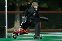 6 November 2007: Stanford Cardinal Madison Bell during Stanford's 1-0 win against the Lock Haven Lady Eagles in an NCAA play-in game to advance to the NCAA tournament at the Varsity Field Hockey Turf in Stanford, CA.