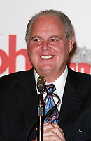 FILE PHOTO: 27 January 2010 - Las Vegas, Nevada - Rush Limbaugh.  Miss America Judges Press Conference at the Planet Hollywood Resort Hotel and Casino.  Photo Credit: MJT/AdMedia / MediaPunch