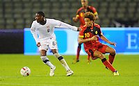 USA's Maurice Edu (l) and Belgium's Axel Witsel fight for the ball during the friendly match Belgium vs USA at King Baudoin stadium in Brussels, Belgium on September 06th, 2011.