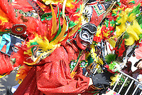 BARRANQUILLA-COLOMBIA-02-03-2014. Comparsas y carrozas y desfilaron por las calles de la ciudad en el marco de El carnaval de Barranquilla durante la Batalla de Flores. / Tipical Dancers groups and floats in the parade through the city streets as part of Barranquilla's carnival during the Battle of Flowers. Photo: VizzorImage/Alfonso Cervantes/STR