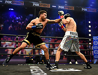 LOS ANGELES - JANUARY 30: Brandyn Lynch and Mark Hernandez during their fight on Fox Sports PBC fight night at the Shrine Auditorium and Expo Hall in Los Angeles, California on January 30, 2021. (Photo by Frank Micelotta/Fox Sports)