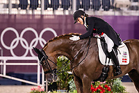 DEN-Cathrine Dufour rides Bohemian during the Dressage Grand Prix Team Final at the Equestrian Park. Tokyo 2020 Olympic Games. Tuesday 27 July 2021. Copyright Photo: Libby Law Photography