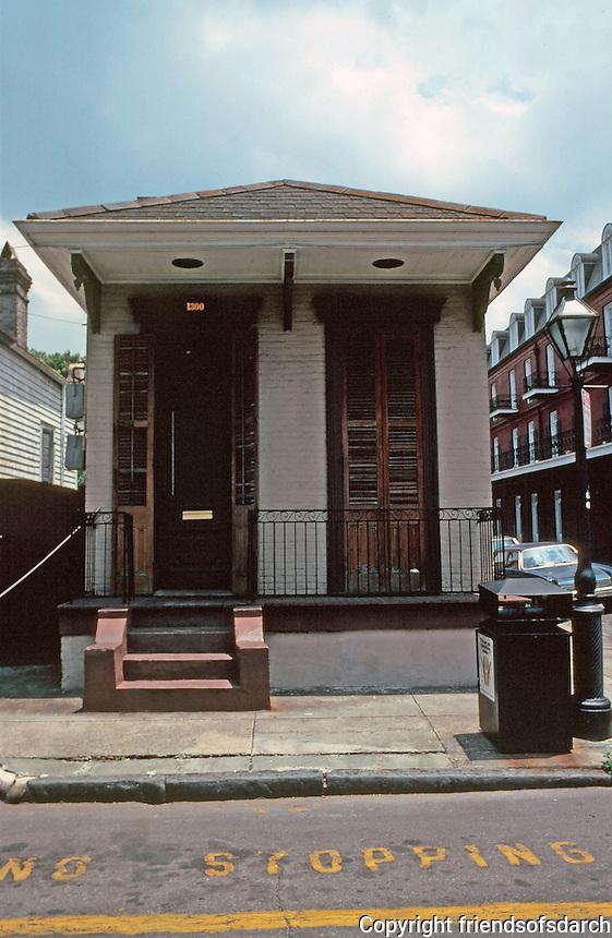 New Orleans:  1300 Chartres St. --Shotgun house.