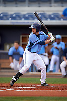 Charlotte Stone Crabs second baseman Brandon Lowe (5) at bat during a game against the Lakeland Flying Tigers on April 16, 2017 at Charlotte Sports Park in Port Charlotte, Florida.  Lakeland defeated Charlotte 4-2.  (Mike Janes/Four Seam Images)