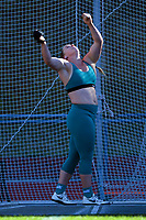 Lauren Bruce competes in the women's elite hammer throw. 2021 Capital Classic athletics at Newtown Park in Wellington, New Zealand on Saturday, 20 February 2021. Photo: Dave Lintott / lintottphoto.co.nz
