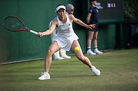 2nd July 2021; Wimbledon, SW London. England; Wimbledon Tennis Championships, day 5;   Nao Hibino of Japan