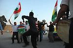 KIRKUK, IRAQ:  Iraqi Kurdish voters rally in the streets of Kirkuk...On March 7th, 2010 Iraq held national parliamentary elections...Photo by Hawre Khalid/Metrography
