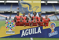CALI - COLOMBIA, 14-09-2019: Jugadoras del América posan para una foto previo al partido por la semifinal vuelta de la Liga Femenina Aguila 2019 entre América de Cali y Millonarios jugado en el estadio Pascual Guerrero de la ciudad de Cali. / Players of America pose to a photo prior second leg match for the semifinals as part of Aguila Women League 2019 between America de Cali and Millonarios played at Pascual Guerrero stadium in Cali. Photo: VizzorImage / Gabriel Aponte / Staff