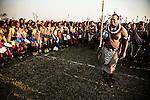 """Le roi Mswati III, souverain du royaume du royaume du Swaziland. Ouvertement polygame, il a 14 femmes. Alors que le Swaziland est principalement rural et fait partie des pays les plus pauvres du monde, et que sa population est victime du Sida, le Roi ne compte guère ses dépenses, sa passion pour les voitures de luxe et l'argent qu'il donne à ses épouses (Celles-ci se déplacent en jet privés et dépensent des sommes colossale). Actuellement, il est le dernier monarque absolu d'Afrique : il gouverne par décret et s'oppose à l'instauration de la démocratie dans son pays.Au Swaziland, ce n'est pas le roi qui désigne son successeur, c'est la famille royale qui choisit laquelle des épouses doit être la « Grande Épouse » et « Indlvukazi » (Éléphante, comprendre reine-mère). Le fils de cette épouse devient automatiquement le roi suivant.<br /> <br /> King Mswati III, ruler of the kingdom of the Kingdom of Swaziland. Openly polygamous, he has 14 wifes. While Swaziland is predominantly rural and is one of the world's poorest countries, and  one a the most affected country by HIV. King Mswati III hardly counts his expenses. His passion for luxury cars and the money that he gives to his wives (they travel by private jet and spend colossal sums) are wellknown in the kingdom. Currently, he is the last absolute monarch in Africa: he governs by decree and he is opposed to the establishment of democracy in its pays. In Swaziland, this is not the king who appoints his successor but the royal family chooses which of the wives must be the """"Great Wife"""" and """"Indlvukazi"""" (elephant, include Queen Mother). The son of the wife automatically becomes the next king."""