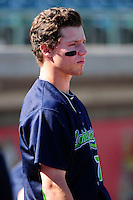 Vermont Lake Monsters outfielder Skye Bolt (7) during a game versus the Lowell Spinners at LeLacheur Park on September 6, 2015 in Lowell, Massachusetts. (Ken Babbitt/Four Seam Images)