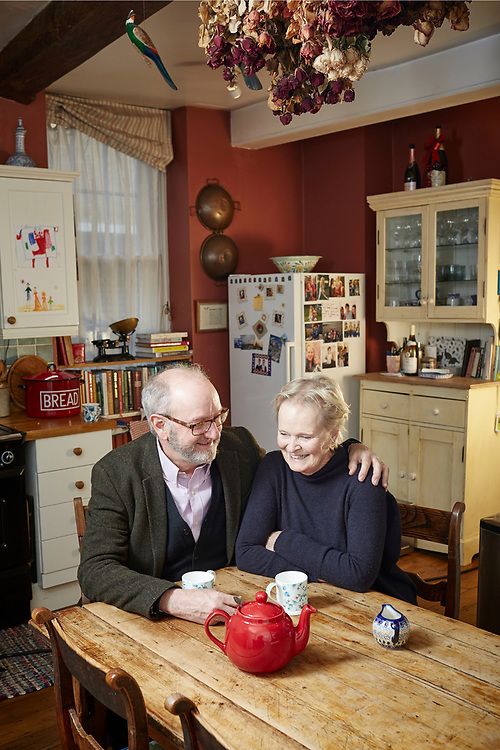 © John Angerson - 200311<br /> How We Live Together feature.<br /> Vicars Charlie and Anita Cleverly at their vicarage in central Oxford, England.