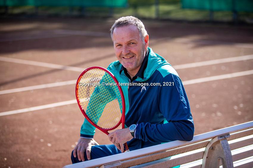 Doorn, Netherlands, Februari 25, 2021, Foroshoort Tjerk Bogtstra (NED) Coach.<br /> Photo: Tennisimages/Henk Koster