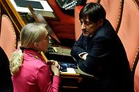 UNTERBERGER Julia<br /> Rome February 18th 2020. Senate. Speech of the Italian Premier about the next European Council.<br /> Foto Samantha Zucchi Insidefoto