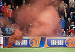 Rangers fans smokebombs