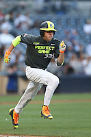 Cole Stobbe (29) of the West runs to first base during the 2015 Perfect Game All-American Classic at Petco Park on August 16, 2015 in San Diego, California. The East squad defeated the West, 3-1. (Larry Goren/Four Seam Images)
