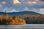 Autumn sunset on Mount Monadnock in Dublin, NH, USA