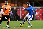 Dundee United v St Johnstone…12.01.21   Tannadice     SPFL<br />David Wotherspoon takes on Mark Reynolds<br />Picture by Graeme Hart.<br />Copyright Perthshire Picture Agency<br />Tel: 01738 623350  Mobile: 07990 594431