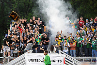 AC St Louis fans...AC St Louis were defeated 1-2 by Austin Aztek in their inaugural home game in front of 5,695 fans at Anheuser-Busch Soccer Park, Fenton, Missouri.