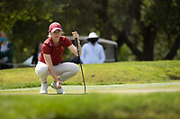 STANFORD, CA - APRIL 24: Amelina Garvey at Stanford Golf Course on April 24, 2021 in Stanford, California.