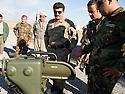 Iraq 2014 <br /> Sirwan Barzani, Peshmerga officer in charge of the 6th branch , Mahmur district, with a new weapon, the Milan, anti-guided missile     <br /> Irak 2014 <br /> Sirwan Barzani, officier de peshmergas, responsable de la 6eme branche du front de Mahmur avec une nouvelle arme, le Milan, missile leger anti-char