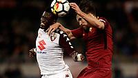 Calcio, Serie A: AS Roma - Torino Roma, stadio Olimpico, 9 marzo, 2018.<br /> Torino's Afriyie Acquah (l) in action with Roma's Kevin Strootman (r) during the Italian Serie A football match between AS Roma and Torino at Rome's Olympic stadium, 9 marzo, 2018.<br /> UPDATE IMAGES PRESS/Isabella Bonotto