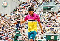 Paris, France, 26 May, 2019, Tennis, French Open, Roland Garros, Kei Nishikori (JPN)<br /> Photo: Henk Koster/tennisimages.com