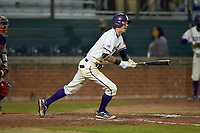 Will Prater (5) of the Western Carolina Catamounts follows through on his swing against the St. John's Red Storm at Childress Field on March 13, 2021 in Cullowhee, North Carolina. (Brian Westerholt/Four Seam Images)