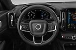 Car pictures of steering wheel view of a 2021 Volvo XC40 R-Design 5 Door SUV Steering Wheel