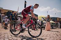 Marcel Kittel (DEU/Katusha-Alpecin) back from sign-on<br /> <br /> Stage 9: Arras Citadelle > Roubaix (154km)<br /> <br /> 105th Tour de France 2018<br /> ©kramon