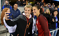 San Jose, CA - Sunday November 12, 2017: Carli Lloyd during an International friendly match between the Women's National teams of the United States (USA) and Canada (CAN) at Avaya Stadium.