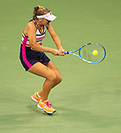 August 30,2019:   Sofia Kenin (USA) loses to Madison Keys (USA) 6-3, 7-5, at the US Open being played at Billie Jean King National Tennis Center in Flushing, Queens, NY.  ©Jo Becktold/CSM