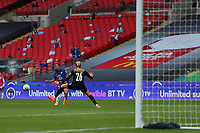 29th August 2020; Wembley Stadium, London, England; Community Shield Womens Final, Chelsea versus Manchester City; Sam Kerr of Chelsea Women beats keeper Roebuck of Man City but her shot goes wide of the goal