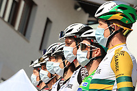 22nd April 2021;  Cycling Tour des Alpes Stage 4, Naturns/Naturno to Pieve di Bono, Italy on 22nd; Simon Yates Team BikeExchange and team mates who held onto the tour leaders jersey