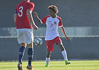 Enzo Fonseca Lima (7) of Luxemburg pictured during a soccer game between the national teams Under17 Youth teams of  Norway and Luxemburg on day 2 in the Qualifying round in group 3 on saturday 9 th of October 2020  in Tubize , Belgium . PHOTO SPORTPIX   DAVID CATRY