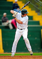 30 April 2009: University of Vermont Catamounts' shortstop Matt Duffy, a Sophomore from Milton, MA, at bat against the Siena College Saints at Historic Centennial Field in Burlington, Vermont. The Saints outscored the Catamounts 11-10 in the afternoon matchup. The Catamounts are playing their last season of baseball, as the program has been marked for elimination due to budgetary constraints at the University. Mandatory Photo Credit: Ed Wolfstein Photo
