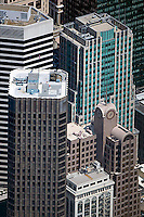 aerial photograph 55 Second Street, McKesson Plaza,33 New Montgomery Street, 595 Market Street, skyscrapers San Francisco