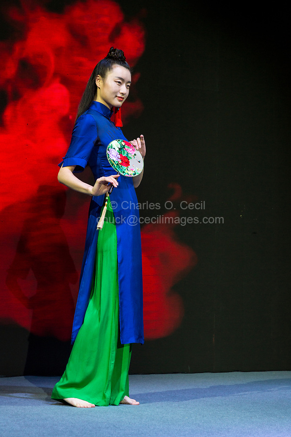 Wenzhou, Zhejiang, China.  Chinese Fashion Show Model.  FOR EDITORIAL USE ONLY.