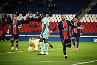 Attitude - Joie des joueurs de l equipe du PSG apres le but de Neymar Jr ( 10 - PSG ) - <br /> 02/10/2020<br /> Paris Saint Germain PSG - Angers<br /> Calcio Ligue 1 2020/2021<br /> Foto Federico Pestellini/Panoramic/insidefoto <br /> ITALY ONLY