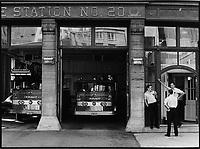 Station 20 dans le vieux-Montreal<br /> <br /> <br /> PHOTO :  Patry- Agence Quebec Presse <br /> <br /> NOTE : Scan de tirages non dates - des cans de negatif suiverons avec les dates