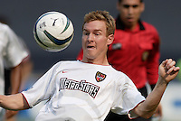 The MetroStars' Chris Leitch. D.C. United defeated the NY/NJ MetroStars 6 to 2 at RFK Stadium, Washington, D.C., on July 3, 2004.