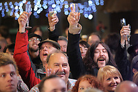 Pictured: Culture Bid supporters at the Hyst in Swansea, Wales, UK. Thursday 07 December 2017<br />Re: Coventry has been chosen to be the UK's City of Culture for 2021.<br />The other places in the running for the title were Swansea, Paisley, Stoke-on-Trent and Sunderland.