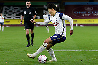 26th October 2020, Turf Moor, Burnley UK; EPL Premier League football, Burnley v Tottenham Hotspur; Tottenham Hotspur forward Son Heung-Min drives into the penalty area