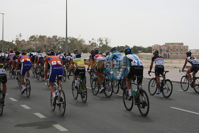 The start of Stage 1 of the Tour of Qatar 2012 running 142.5km from Barzan Towers to Doha Golf Club, Doha, Qatar. 5th February 2012.<br /> (Photo by Eoin Clarke/NEWSFILE).