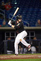 Quad Cities River Bandits catcher Trent Woodward (18) at bat during the second game of a doubleheader against the Wisconsin Timber Rattlers on August 19, 2015 at Modern Woodmen Park in Davenport, Iowa.  Quad Cities defeated Wisconsin 8-1.  (Mike Janes/Four Seam Images)