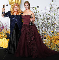 HOLLYWOOD, LOS ANGELES, CA, USA - MARCH 02: Adruitha Lee, Robin Mathews at the 86th Annual Academy Awards - Press Room held at Dolby Theatre on March 2, 2014 in Hollywood, Los Angeles, California, United States. (Photo by Xavier Collin/Celebrity Monitor)