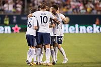 Orlando, FL - Saturday July 22, 2017: Harry Kane and Tottenham Hotspur celebrate a goal during the International Champions Cup (ICC) match between the Tottenham Hotspurs and Paris Saint-Germain F.C. (PSG) at Camping World Stadium.