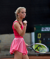 10-08-13, Netherlands, Rotterdam,  TV Victoria, Tennis, NJK 2013, National Junior Tennis Championships 2013, Britt Schreuder wins girls 16 years <br /> <br /> Photo: Henk Koster