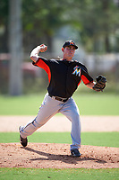 Miami Marlins Nick Wittgren (45) during a minor league Spring Training intrasquad game on March 31, 2016 at Roger Dean Sports Complex in Jupiter, Florida.  (Mike Janes/Four Seam Images)
